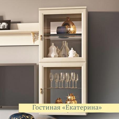 Шкаф для посуды навесной Екатерина крем ЕВ2053