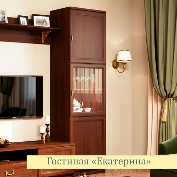 Шкаф для посуды Екатерина орех ЕВ2002