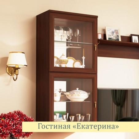 Шкаф для посуды навесной Екатерина орех ЕВ2053