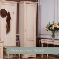 Шкаф однодверный правый для прихожей крем
