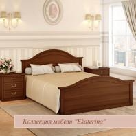 Кровать c ножной спинкой и КЭ цвет орех 1600х2000 ЕКр1126