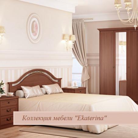 Кровать без ножной спинки с ящиком для белья и КЭ, цвет орех 1600х2000