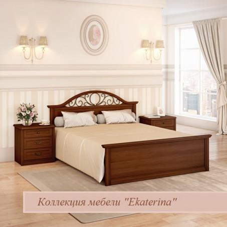 Кровать c прямой ножной спинкой и КЭ №2 цвет орех 1800х2000 ЕКр4228