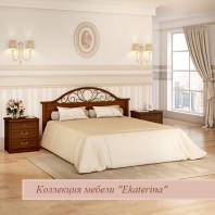 Кровать без ножной спинки с ящиком для белья и КЭ №2, цвет орех 1800х2000 ЕКр4338