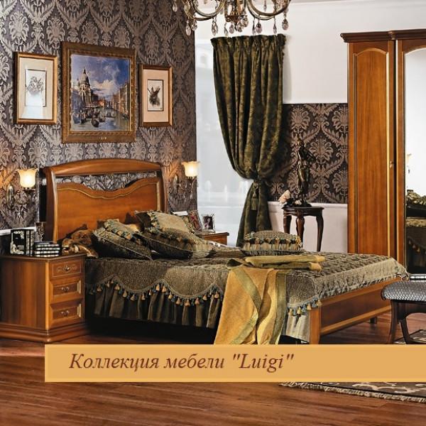 Двуспальная кровать с кованым элементом без ножной спинки орех 1600х2000