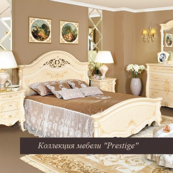 Кровать с ажурным элементом Prestige беж 1600х2000