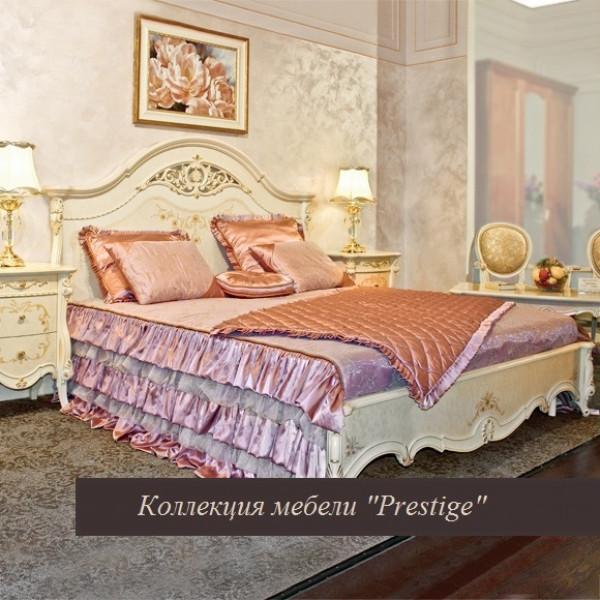 Кровать, партия №3 без ножной спинки Prestige беж 1600х2000
