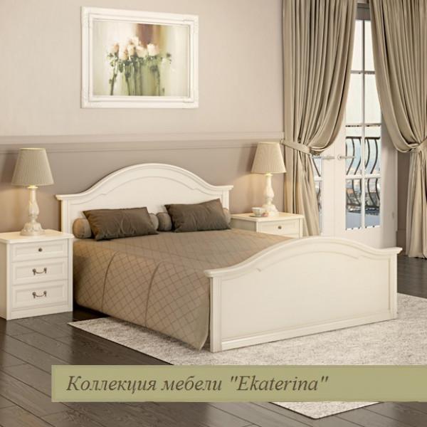 Кровать с ножной спинкой 1600х2000 крем ЕКр1126