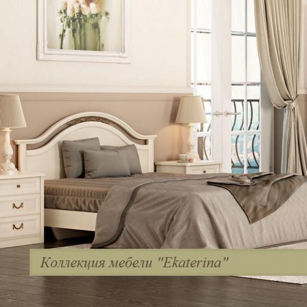 Кровать без ножной спинки с ящиком для белья и КЭ, цвет крем 1600х2000