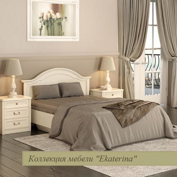 Кровать без ножной спинки, цвет крем 1400х2000