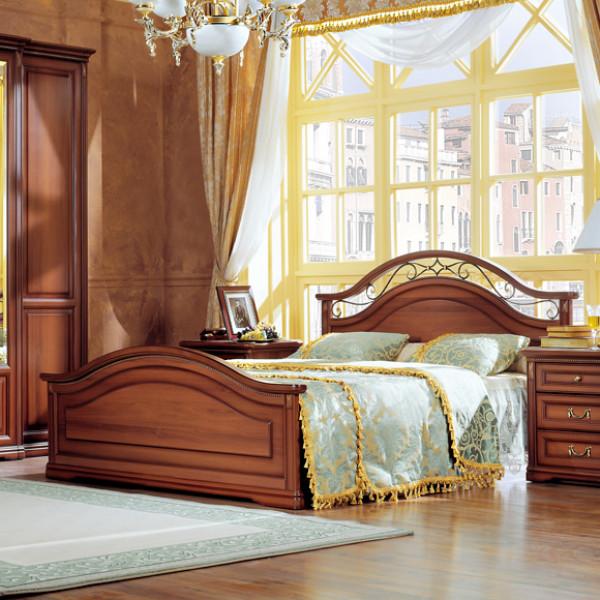 Кровать двойная 1600x2000, вариант №1 (с ножной спинкой)