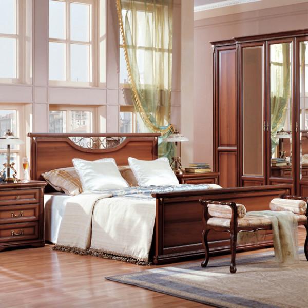 Кровать двойная 1400x2000, вариант №2 с ножной спинкой