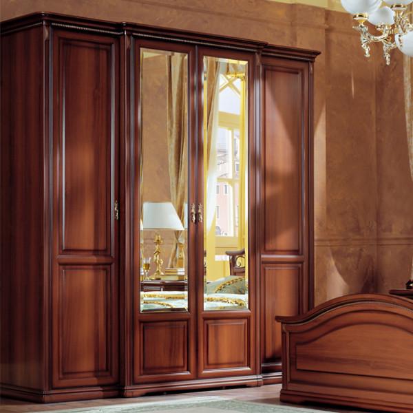 Шкаф 4-х дверный для платья и белья