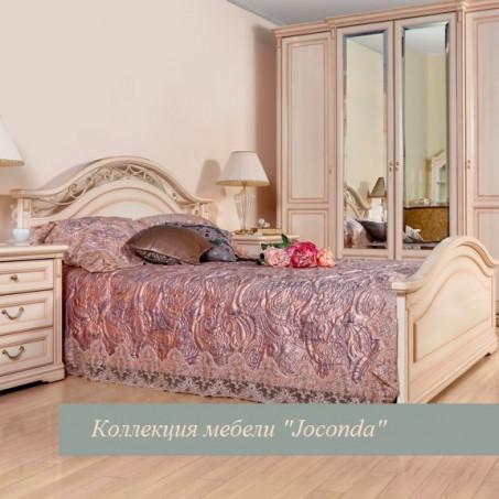 Кровать двойная 1600x2000, вариант №1 (с ножной спинкой) крем