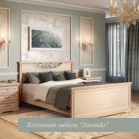 Кровать двойная 1400x2000, вариант №2 с ножной спинкой крем