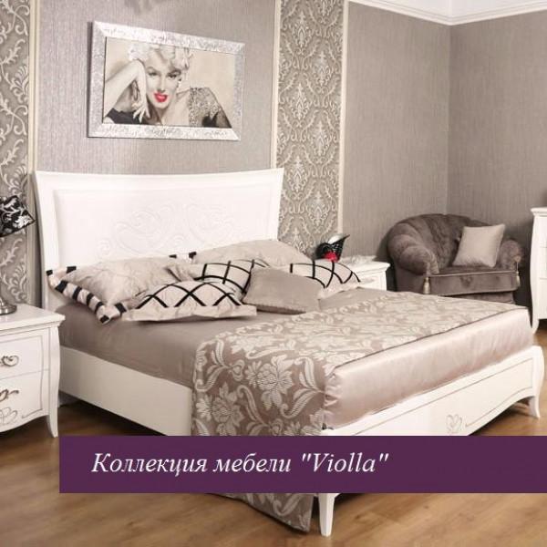 """Кровать """"Viola"""" белая 1600х2000 без ножной спинки"""