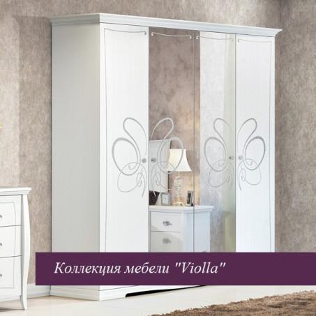 """Шкаф 4х-дверный  """"Viola"""" белая"""