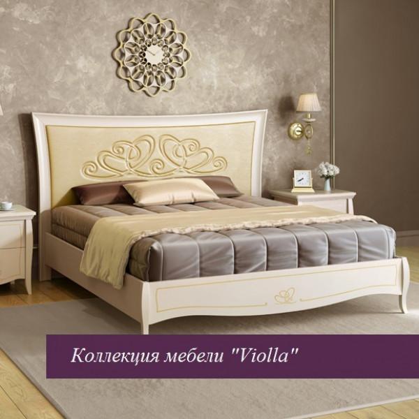 """Кровать """"Viola"""" беж 1600х2000 без ножной спинки"""