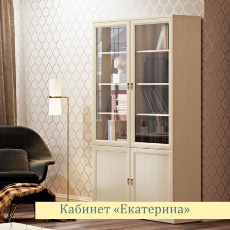 Шкаф для книг левый/правый Екатерина крем ЕВ2012