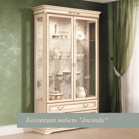 """Шкаф двухдверный для посуды крем """"Joconda"""""""