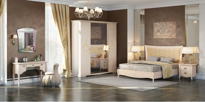Коллекция мебели для спальни Viola беж