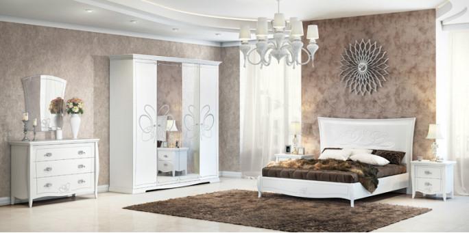 Мебель для спальни Viola белая