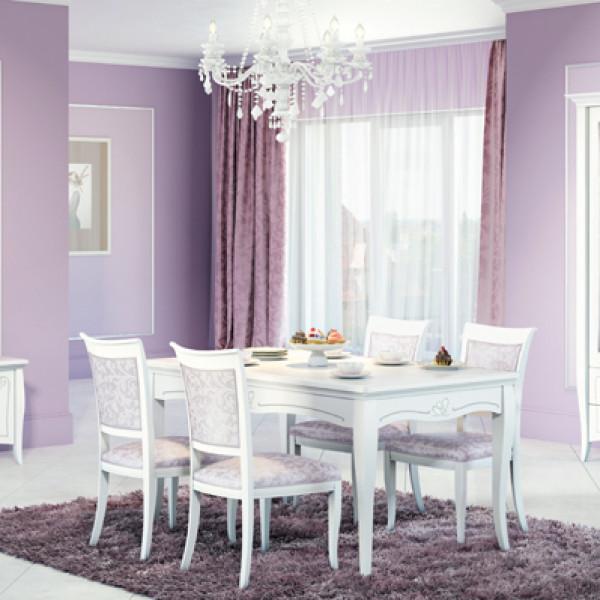 Стол обеденный Viola белый